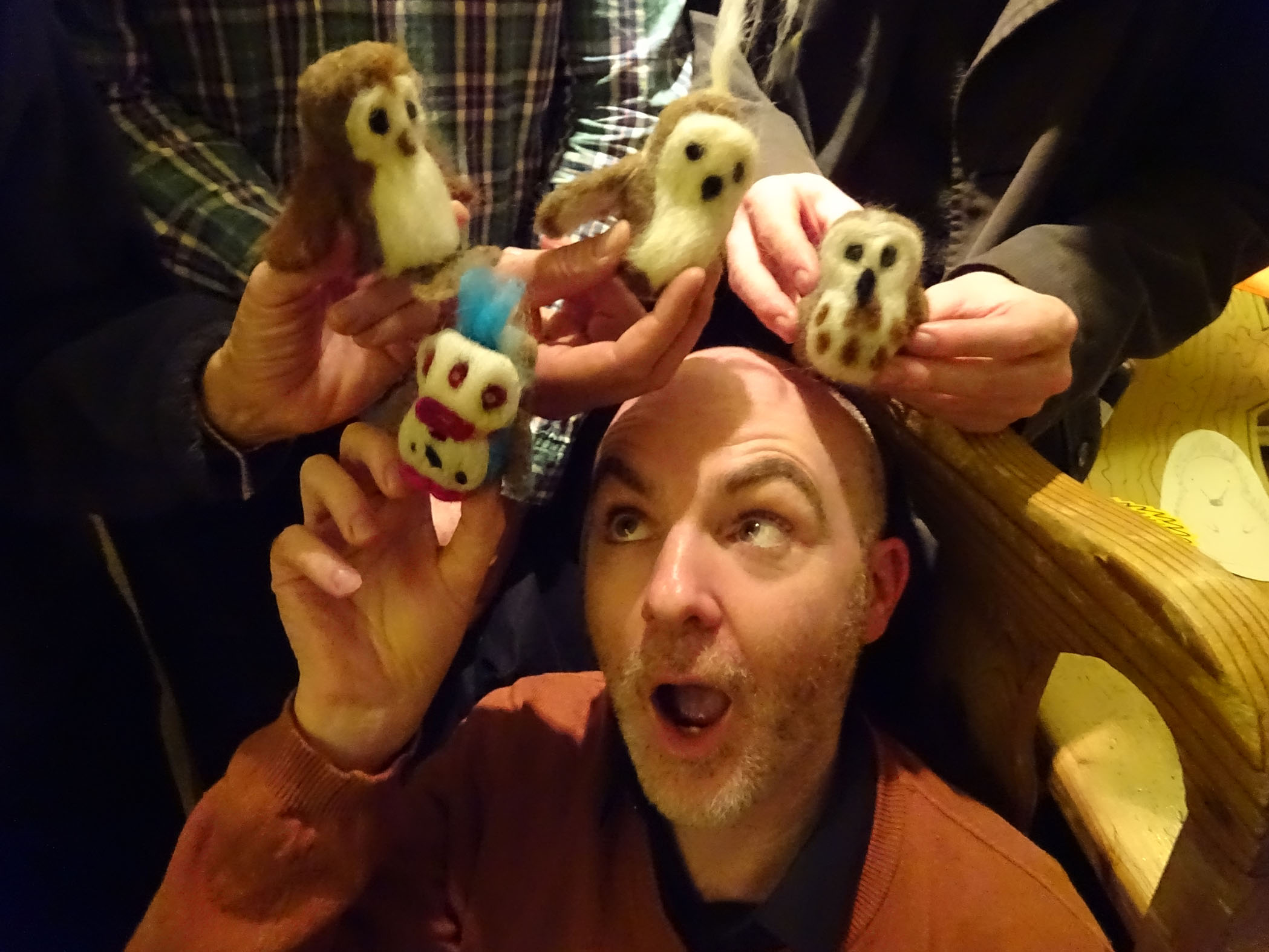 Phil attacked by felt creatures