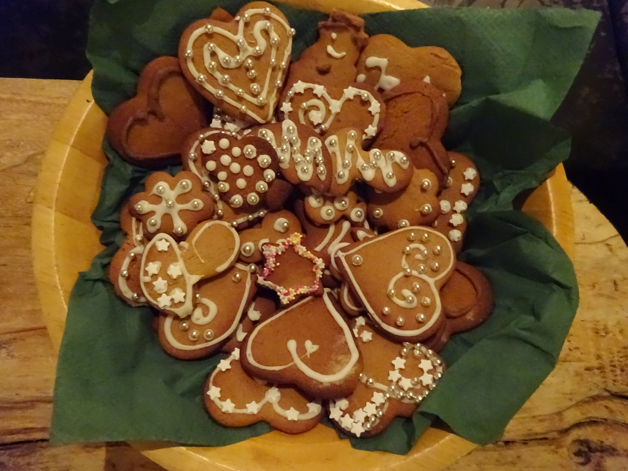 Yummy ginger biscuits