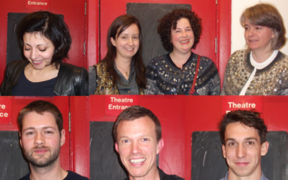 Top Row Zara Wood, Megan Dow , Sarah Arnett, Amanda Lawrence, Bottom Row Christopher Eales, Garry Parsons, William Goldsmith.