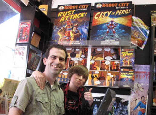 Steve and Theo of Dave's Comics heartily approve of Robot City.