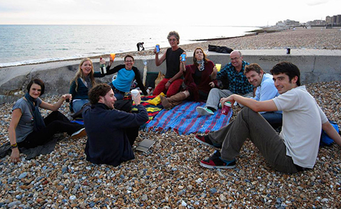 BiG BBQ folks on the beach