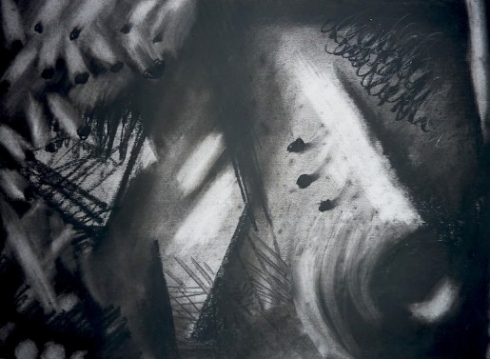 Abstract Charcoal on paper. Prints available here http://www.imagekind.com Frame.d original available to buy please contact me…