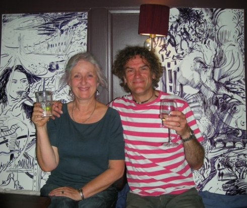 Joint winners, painter Annelies Clarke and BIG's own Curtis Tappenden