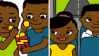 Illustrations for 'Boost' – a free downloadable mobile app providing HIV and sexual health content for community healthworkers across Southern Africa.
