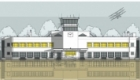 Shoreham Aiport architectural illustration. Available as prints, cards, etc.