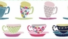 Tea time-inspired surface pattern designs.