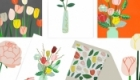 Floral card collection