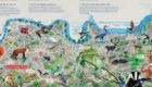 Illustrated map for The Dulwich Picture Gallery magazine