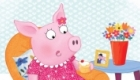 Three Little Pigs - girl pig enjoying cakes