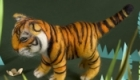 Needle felted tiger in a jungle scene. As featured in my book 'My Felted Friends', published by CICO Books 2012.