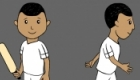 Character designs of cricketer Sachin Tendulkar as a boy for children's animation series