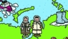 Russia map for 'Rugrats Round the World' magazine